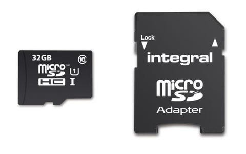 Integral 32GB Smartphone/Tablet Class 10 MicroSDHC Memory Card