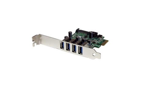 Startech 4 Port (PCIe) SuperSpeed USB 3.0 Controller Card Adapter with SATA Power