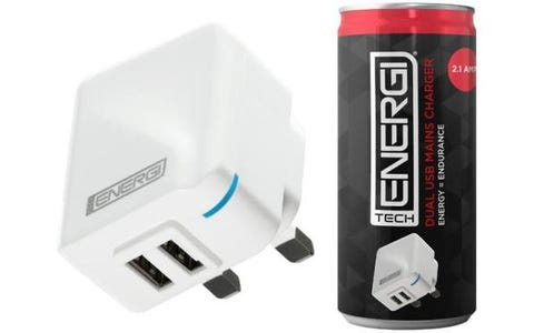 Tech Energi Dual USB 2.1 Amp Mains Charger - White