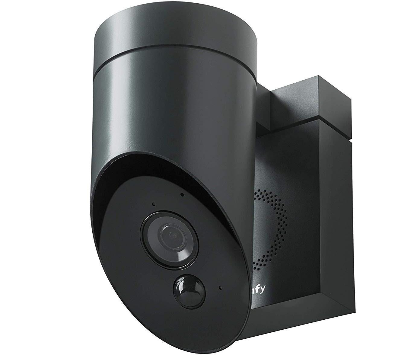 Somfy Outdoor HD Camera for Home Security Systems -Anthracite Grey