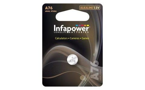 InfaPower A76 Alkaline Coin Cell 1.5V Battery