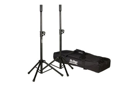 On Stage Mini Speaker Stand Pack - Twin Pack, Black