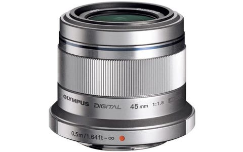 Olympus M.Zuiko Digital 45mm 1:1.8 / ET-M4518 Camera Lens for Olympus PEN - Silver