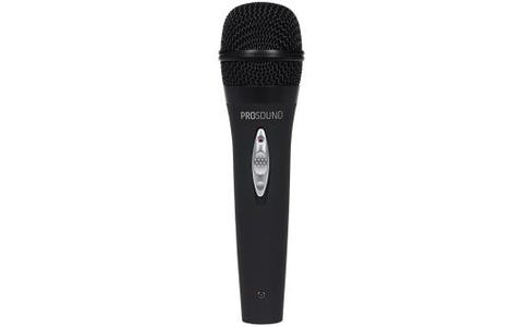 ProSound Dynamic Vocal Microphone 3 Pin XLR to 0.25 inch 2 Pole Connector-Black