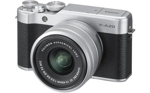 Fujifilm X-A20 Silver Camera XC 15-45mm Silver Lens Kit
