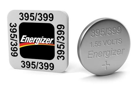 Energizer SR57/S74 395/399 Silver Oxide Coin Battery 1.55 V 51mAh Pack of 1