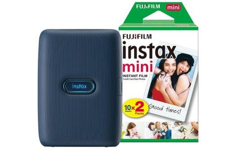 Fujifilm Instax Mini Link Printer including 20 Shots - Dark Denim
