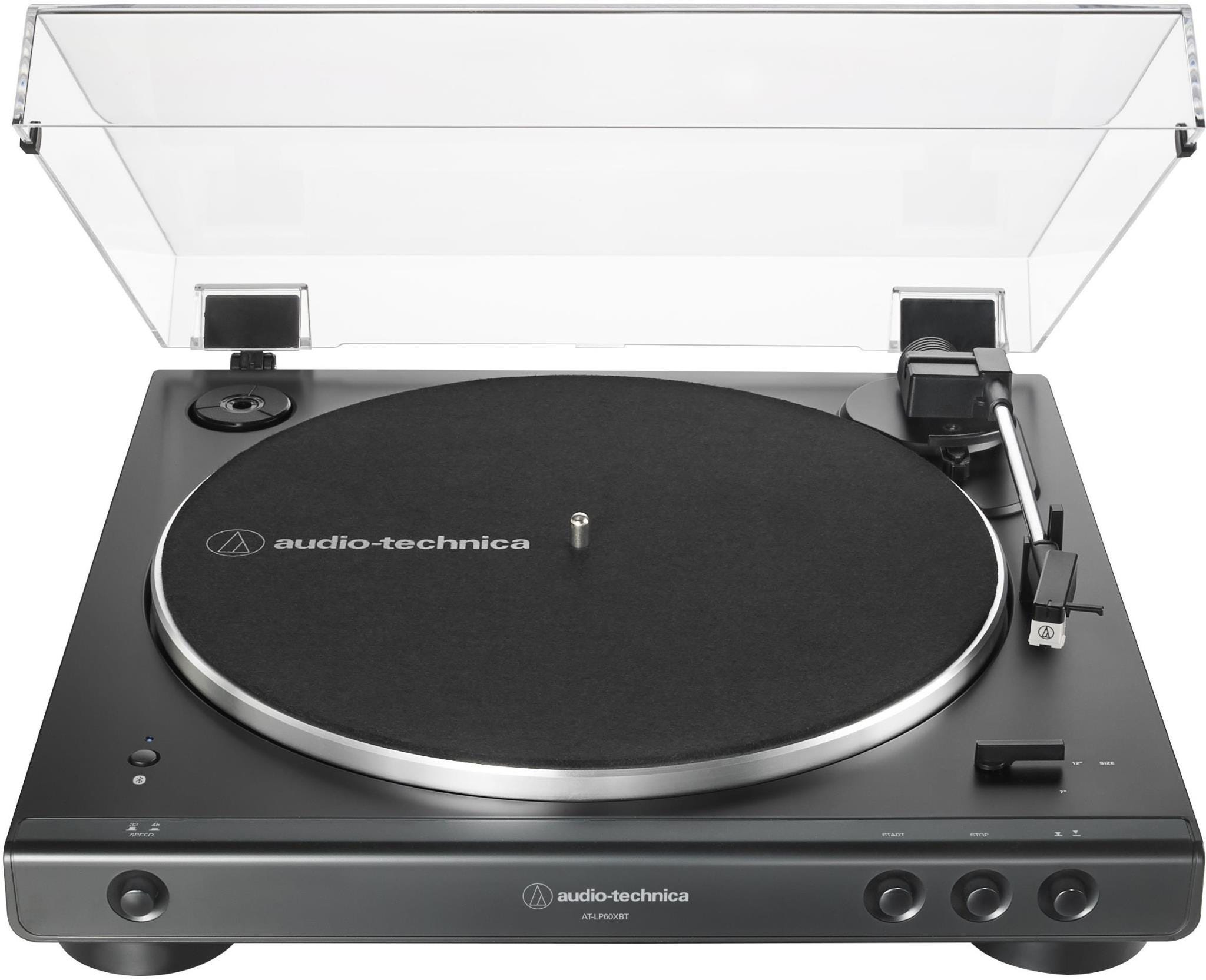 Audio-Technica AT-LP60XBT Automatic Wireless Belt-Drive Stereo Turntable- Black