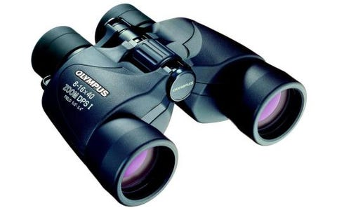 Olympus 8-16x40 DPS-I Binoculars with Neck Strap & Case - Black