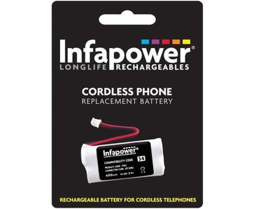 InfaPower Rechargeable Ni-MH Battery for Cordless Telephones - 2 x AAA pack