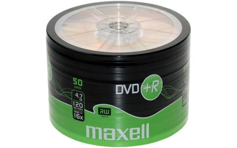 Maxell DVD+R Shrink Wrap (50 Pack)