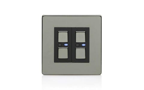 Lightwave Connect Series Dimmer Switch (2 Gang) - Stainless Steel
