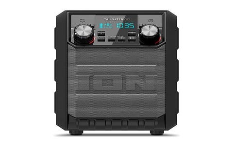 ION Tailgater Go Water-Resistant Portable Wireless Bluetooth Speaker - Black
