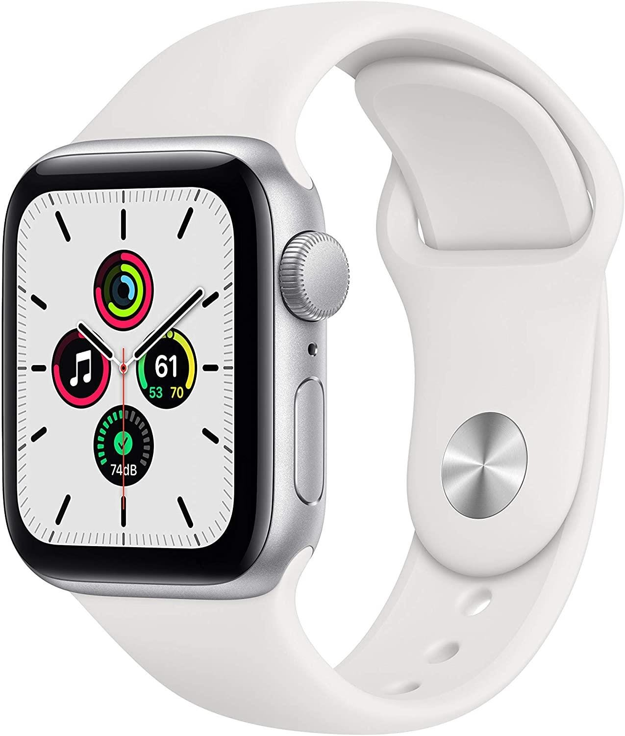 Apple GPS 40mm Watch SE - Regular - Silver Aluminium Case with White Sport Band