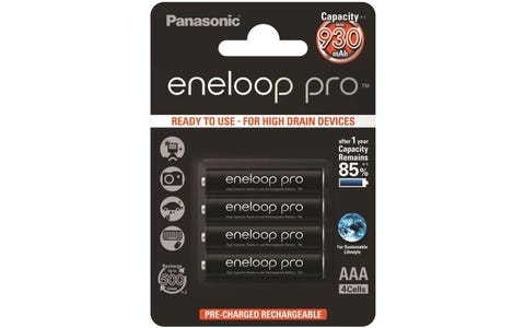 Panasonic Eneloop Pro Rechargeable Ni-MH AAA Batteries - Pack of 4