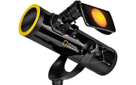 National Geographic 76/350 Reflector Telescope with Sun Filter & Smartphone Adapter - Black