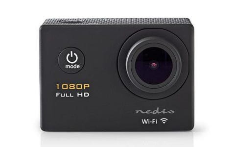 Nedis Full HD 1080p WiFi Action Cam with Waterproof Case & Full Mounting Kits