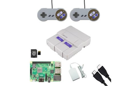 Pi Supply SNESPi Retro Raspberry Pi Gaming Bundle with SNES Gamepads