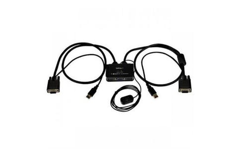 Startech SV211USB 2-Port USB VGA Cable KVM Switch With Remote Switch