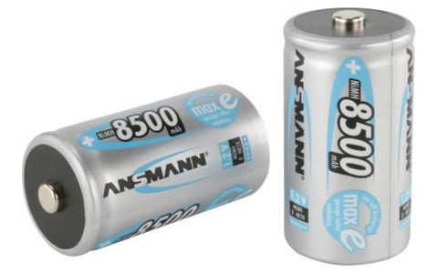 Ansmann MaxE D NiMH Rechargeable Battery 8500mAh 1.2V Pack of 2