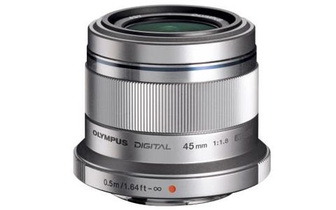 Olympus M.Zuiko Digital 45mm 1:1.8 / ET-M4518 Camera Lens for Olympus PEN-Silver