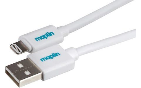 Maplin Premium Lightning Connector to USB A Male Cable (1.5m) - White