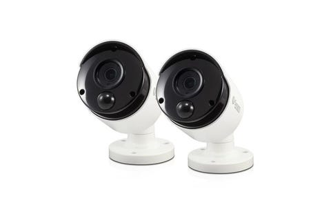 Swann Thermal Sensing PIR 5MP Super HD Bullets with IR Night Vision Security Cameras (2 Pack)