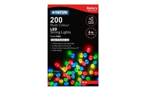 Status Graz 200 Coloured LED String Lights