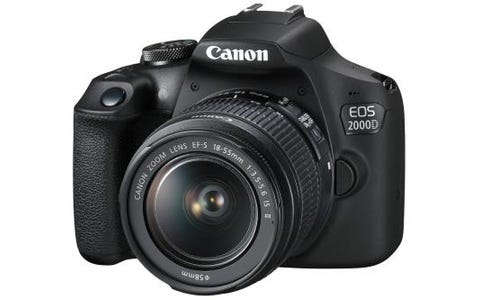 Canon EOS 2000D SLR Camera inc EF-S 18-55mm IS II Lens Kit - Black