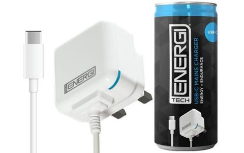 Tech Energi Type C Mains Charger - White