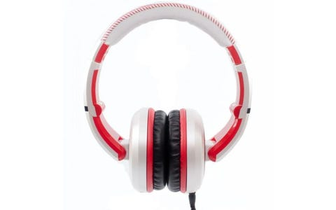 Cad Sessions MH510W Studio Headphones - White/Red