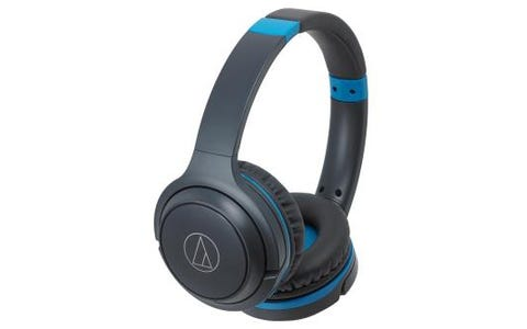 Audio-Technica ATH-S200BT Wireless On-Ear Headphones - Grey/Blue