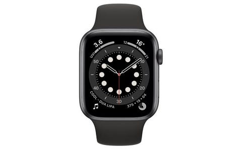 Apple Watch Series 6 GPS - Space Grey Aluminium Case with Black Sport Band, 40mm