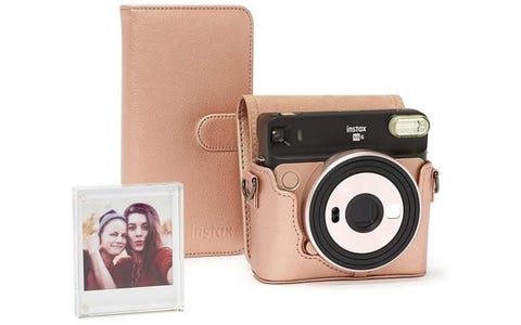 [Like New] Fujifilm Instax SQ6 Accessory Kit with Case, Album & Photo Frame - Blush Gold