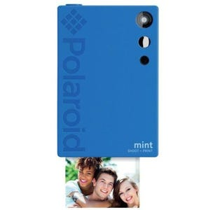 Polaroid Mint Camera with 5 Free Prints and 110 Paper Pack - Blue