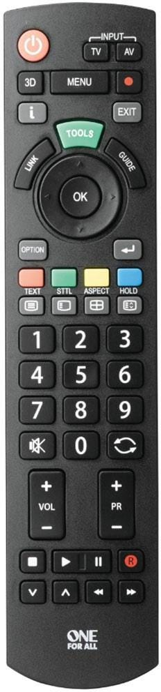 One For All Replacement Panasonic TV Remote Control