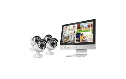 HomeGuard (1TB) 4 Channel Wireless Security System with Monitor & 4XCameras Kit