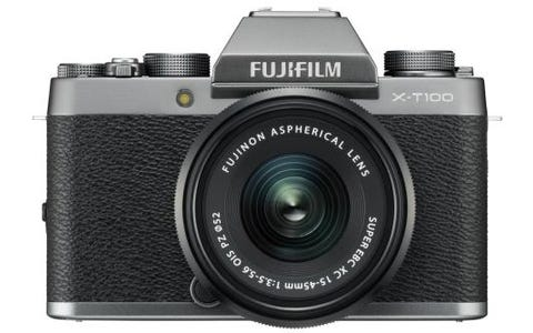 Fujifilm X-T100 Camera XC 15-45mm Black Lens Kit - Silver