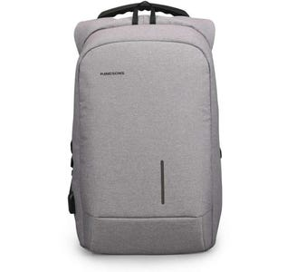"""Kingsons Smart Anti Theft USB Charge Series 15.6"""" Laptop Backpack - Light Grey"""