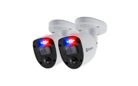 Swann Enforcer Indoor / Outdoor Wired 4K Ultra HD Night-Vision Security Camera (2 Pack) - White