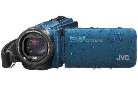 JVC GZ-R495 4GB Memory HD Quad Proof Camcorder - Blue