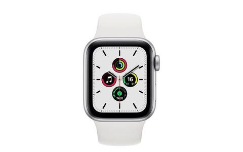 Apple Watch SE GPS - Silver Aluminium Case with White Sport Band, 40mm