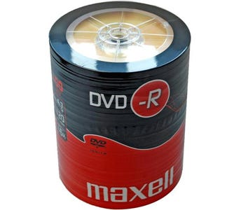 Maxell DVD-R Shrink Wrap (100 Pack)