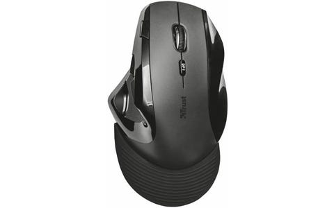 Trust 21722 Vergo Wireless Ergonomic Mouse for PC and Laptop, 2400 DPI with 9 Buttons - Black