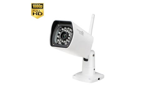 HomeGuard 1080P All-Weather Wireless Bullet Day/Night Network Camera-8GB Storage