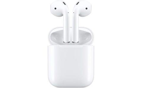 Apple AirPods True Wireless Earphones with Wireless Charging Case - White
