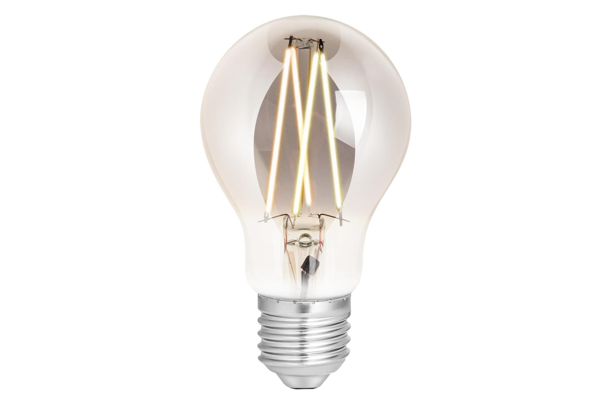 4lite WiZ Connected A60 Edison Filament LED Smart Bulb Smoky White Dimmable WiFi  - E27 Screw