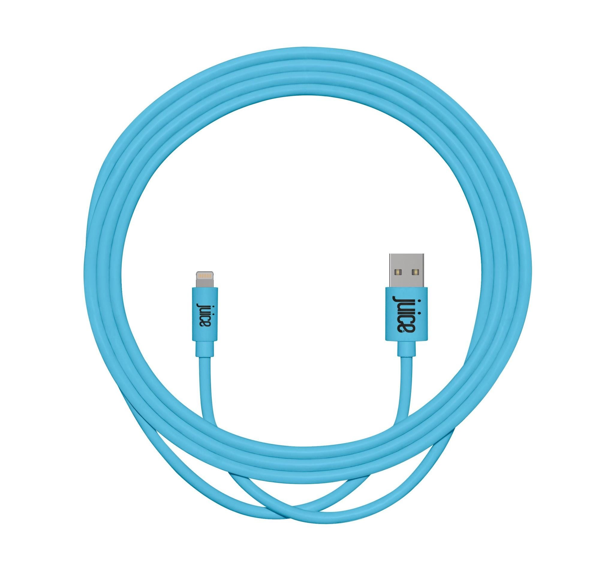 Juice Cable USB-A to Lightning Rounded Charge    Sync Cable (2m) -  Aqua