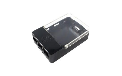 Pi Supply Raspberry Pi B+/2/3 HAT Case - Black & Clear