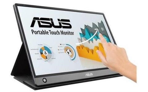 """ASUS MB16AMT ZenScreen Touch 15.6"""" Full HD IPS Touchscreen Portable Monitor with Built-in Battery - Black"""